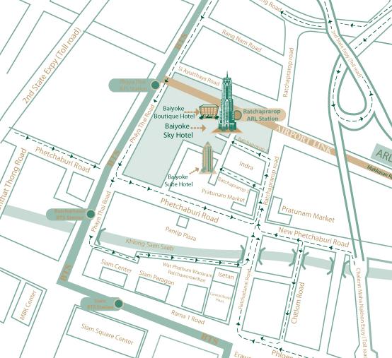 Baiyoke Sky restaurant map