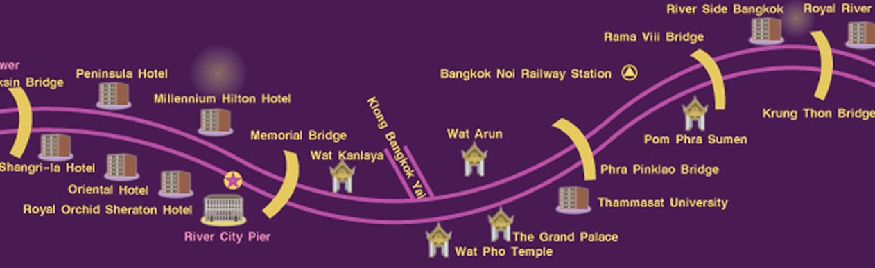 Chaophraya princess cruise-route map