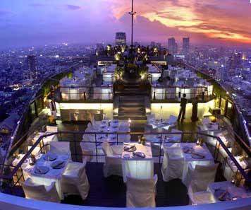 ertigo Restaurant, on the top of Banyantree hotel